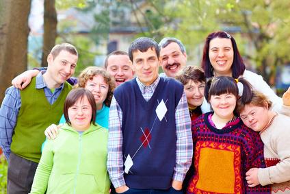 Eine Gruppe Menschen mit Behinderung, Heilerziehungspflege
