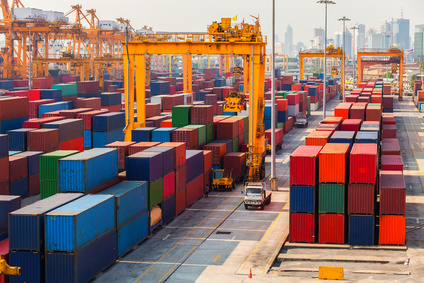 Container am Hafen