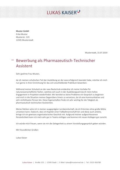 Pharmazeutisch Technische Assistenz Berufsbild Bewerbung