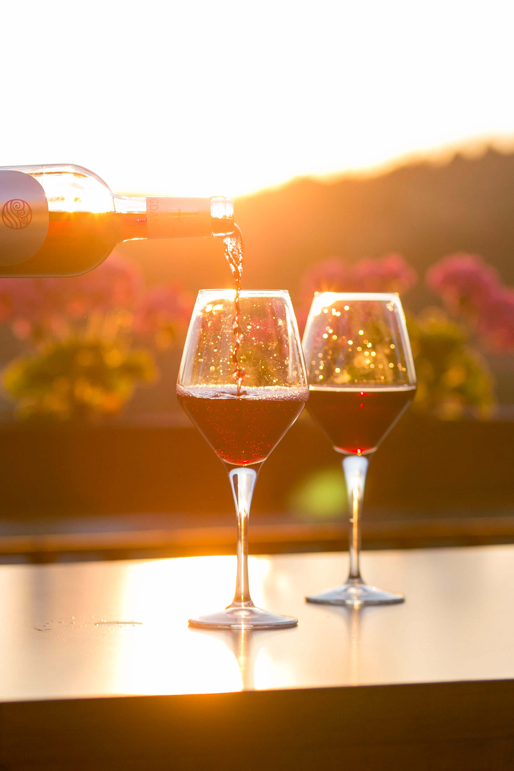 Zwei Weingläser, Bewerbungsvorlage Sommelier, Sommelière