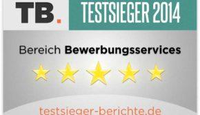 Bewerbungsservice 2014 Testsieger-Berichte.de