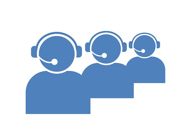 Piktogramm von drei Personen in der telefonischen Kundenbetreuung
