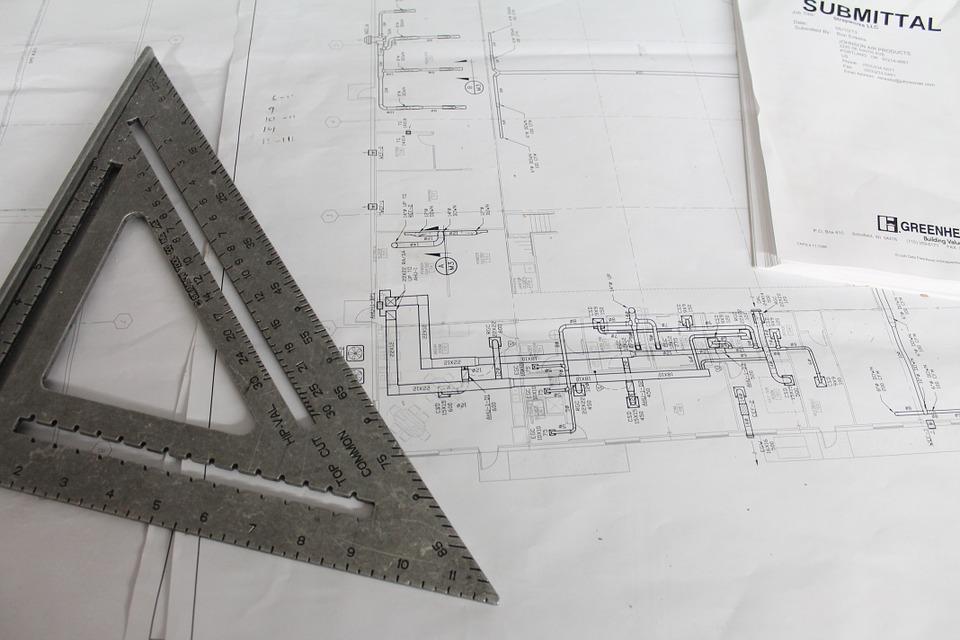 Blick auf den Arbeitsplatz eines Bauingenieurs