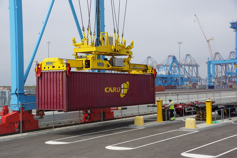 Container, Hafen, Verladen