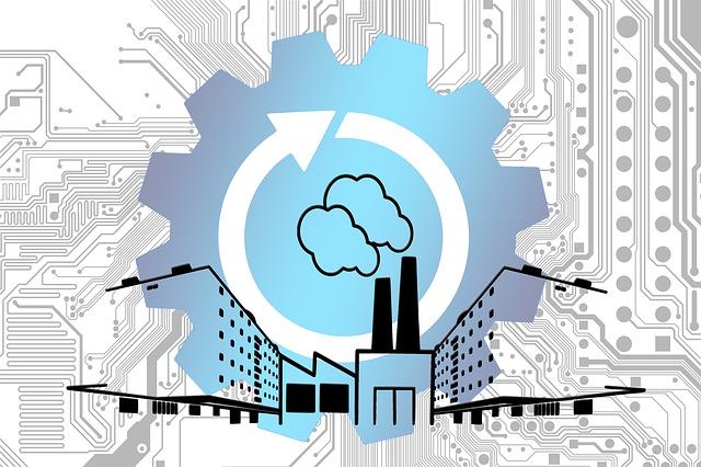 Illustration der Industrie 4.0