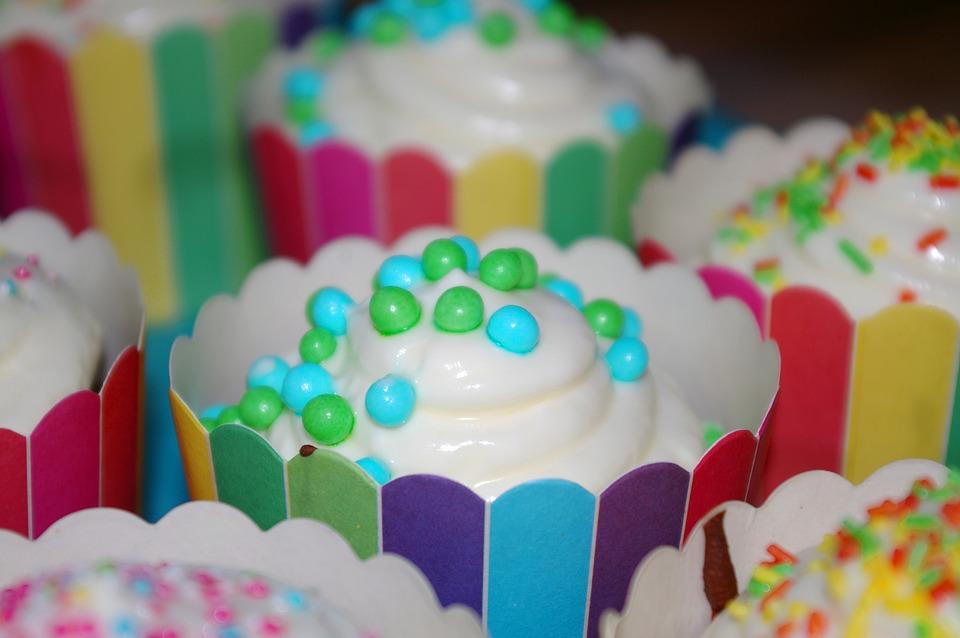 bunte Muffins Mikro