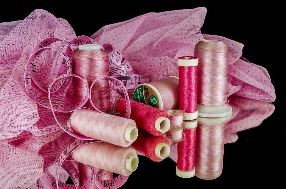 Faden, Garn, Stoff, rosa